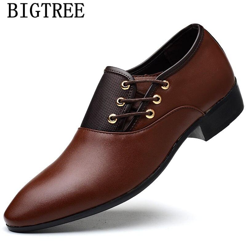 Italian Man Shoes Brown Oxford Shoes For Men Zapatos De Hombre De Vestir Formal Leather Shoes Men Dress Tenis Masculino Adulto