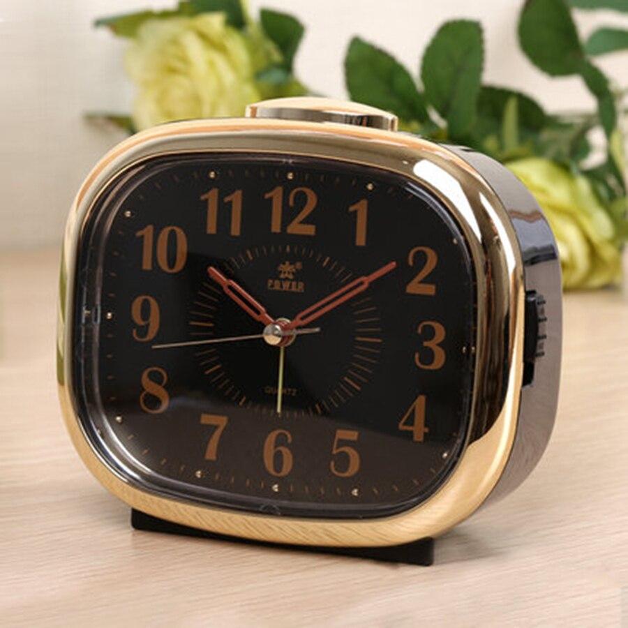 Creative Night Light Alarm Clock Electronic Music Snooze Mechanical Alarm Desk Talking Clocks Glow Wecker Bedside Clocks 50A0132
