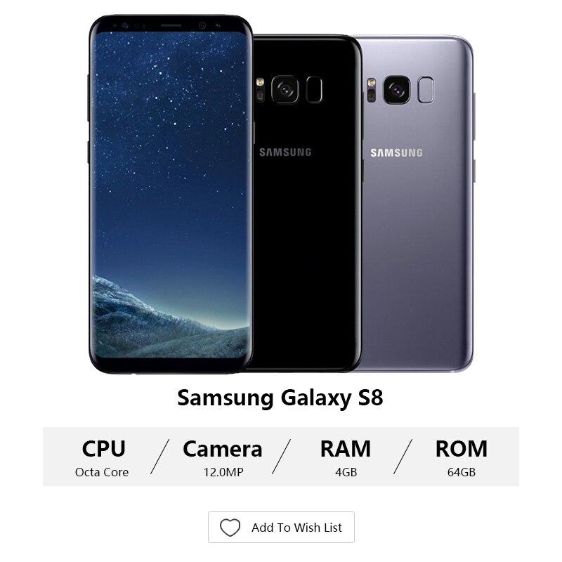 Unlocked Original Samsung Galaxy S8 G950U Snapdragon/G950F Exynos 4GB RAM 64GB ROM 6.2