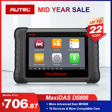 Autel Maxidas DS808 (Upgraded Version of DS708) Automotive Diagnostic Tool OBD2 Scanner Key Coding  (Same Function as MS906)