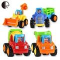 O envio gratuito de Alta qualidade caixa original Crianças brinquedo do bebê Praia puxar para trás carros jogando brinquedos ferramentas de areia caminhão 4 pçs/lote Presentes HT066