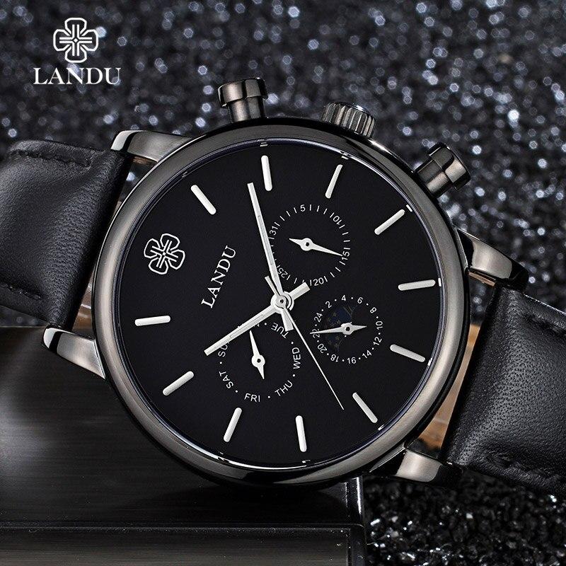 Luxury Multifunctional Men Waterproof Watches Men Student Quartz Wristwatches Relogio Masculino Male Leather Dress Watch
