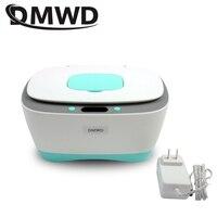 DMWD Electric Baby Wet Tissue Dispenser Paper Case Napkin Heating Storage Box Warmer Temperature Control Thermostat Wipes Heater