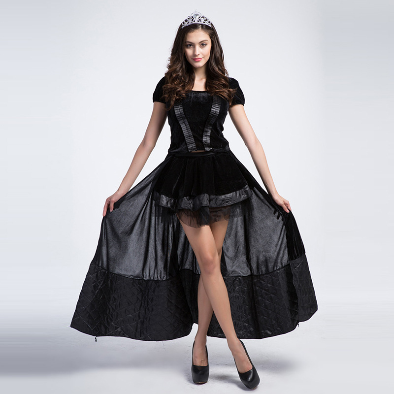 fairytale costume womens witch costume female sorcerer cosplay clothing dress up game uniform halloween queen princess - Dress Up Games For Halloween