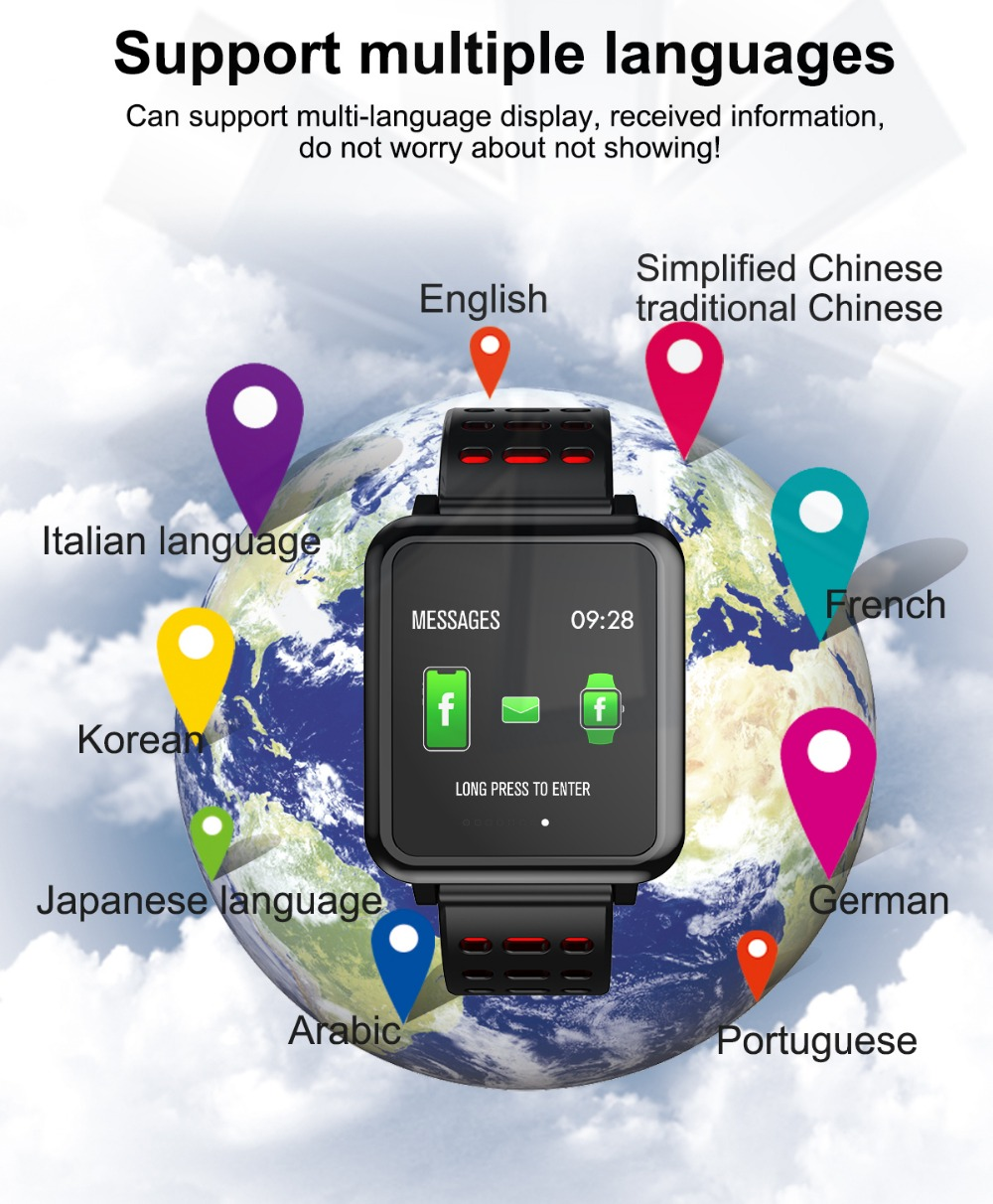T2 Smartwatch IP67 Waterproof Wearable Device Bluetooth Pedometer Heart Rate Monitor Color Display Smart Watch For AndroidIOS (15)