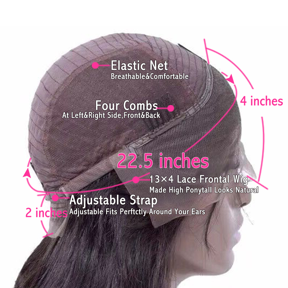 180 Density Glueless Lace Front Human Hair Wigs Remy Brazilian Pre Plucked Silky Straight Lace Front Wig Full Ends Lace Wigs (7)