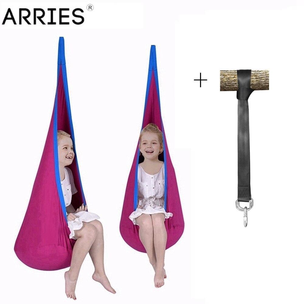 ARRIES Children Cocoon Hammock Garden Furniture Pod Swing Chair Indoor Outdoor Hanging Seat Child Swings Seat Patio Portable