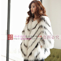 white raccoon fur knitted full leather fashion real fur coat overcoat