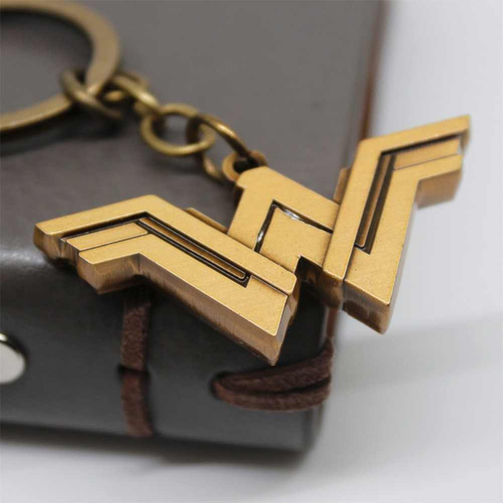 Marvel wonder woman logo cos keychain pendant necklace fashion personality key chain Jewelry Chaveiros Llaveros Souvenirs gifts