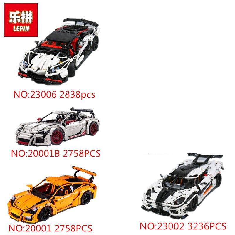 Лепин 20001 20001B 20086 20086B 20086C 23002 23006 техника серии гоночный автомобиль Модель Building Block Кирпичи Игрушка 42056 4789
