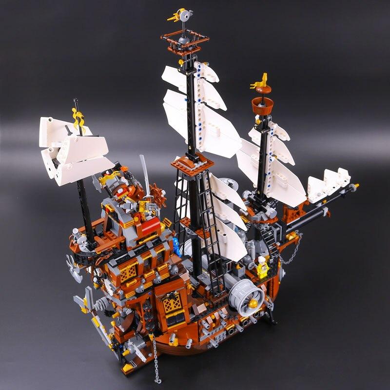 Lepin 16002 Movie Series Pirate Ship Legoingly 70810 MetalBeard's Sea Cow Set Building Blocks Bricks Kids Toys christmas gift
