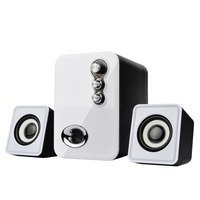Usb Multimedia Stereo Computer Speakers 2 1 For PC Desktop Laptop Notebook Mobile Phone Dual Subwoofer