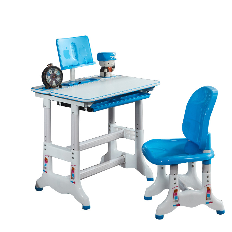 Lovely Children Study Table And Chair Set Multi-function Lifting Writing Desk Children Home Study Table And Chair Combination