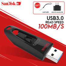 SanDisk USB Flash Drive 256GB 128GB 64GB 32GB 16GB USB 3.0 100 เมกะไบต์/วินาที Mini ปากกาไดรฟ์ Stick U Disk USB แฟลชไดรฟ์คอมพิวเตอร์
