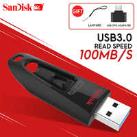 SanDisk USB Flash Drive 256GB 128GB 64GB 32GB 16GB 3,0 GB USB 100 MB/S Mini Pen Drives Stick U disco USB Flash Drive para computadora