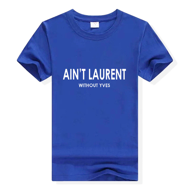 2018 Summer Women Tshirt AIN'T ZA Letters Print Cotton Casual Funny Female T-Shirt Black White Short Sleeve Slim Sexy T Shirt