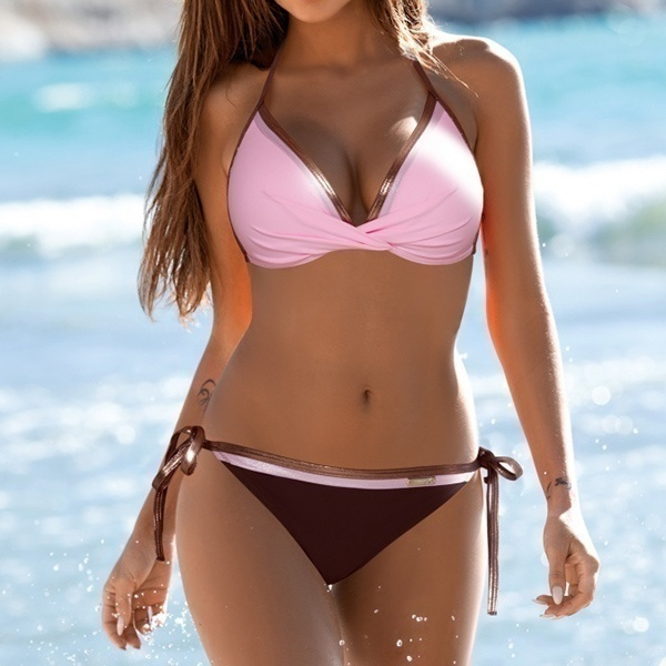 Womens Push Up Two Piece Bikini Swimsuits Sexy 2019 Summer Hot Bathing Suit Triangle Side Knot Womens Push Up Two Piece Bikini Swimsuits Sexy 2019 Summer Hot Bathing Suit Triangle Side Knot Thong Swimwear Padded Adjustable