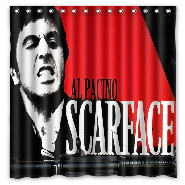 Scarface Shower Curtains Waterproof Fabric Bath Curtain High Quality Bathroom Decorative Products 7272inch In From Home Garden On