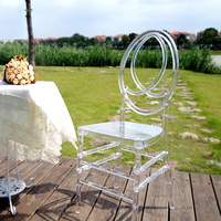 Acrylic Transparent Chair wedding chair Delicate Chair for Outdoor Wedding Moment Party Gathering in Hotel House or Church