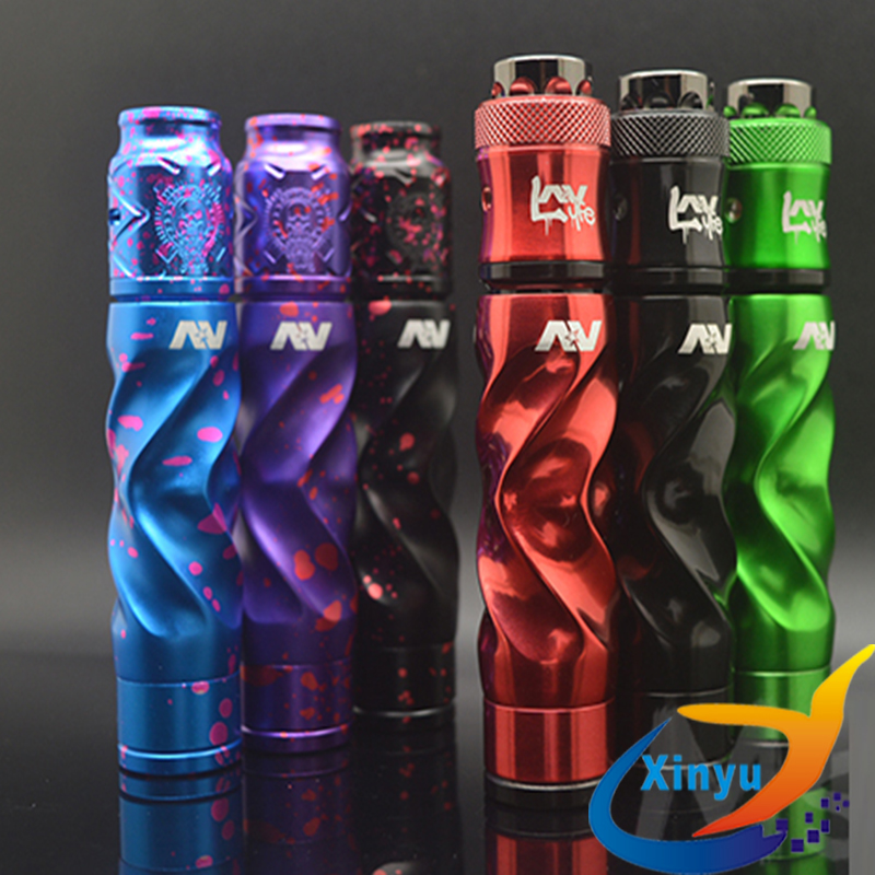 Avidlyfe Mod Kit 18650 Battery Aluminum Mechanical Mod Electronic Cigarette Kit With RDA 24mm Drip Atomizer Vs AV Twistgyre Kit