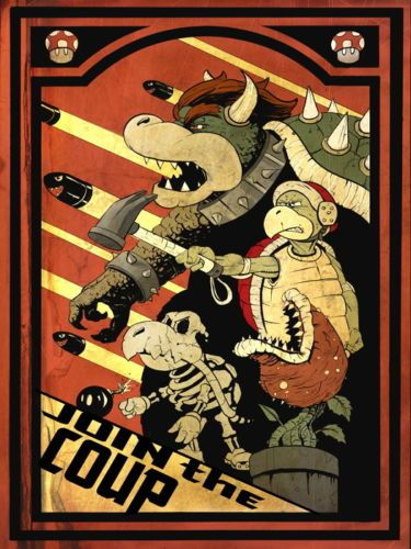 Super Mario Bros Cool Propaganda NESSilk Poster Art Bedroom Decoration 1474