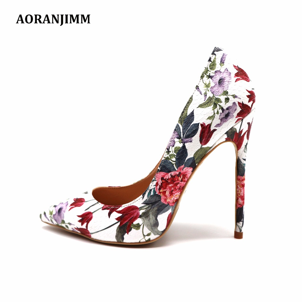 Free shipping real pic follower printed pointed toe white python woman lady 12cm 100mm 8 high