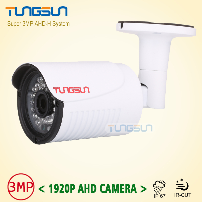 New Arrival Super 3MP HD 1920P Camera Security CCTV White Metal Bullet AHD Video Surveillance Outdoor Waterproof 36pcs infrared low illumination hd 1 3mp cctv 960p ahd camera 3000tvl outdoor waterproof mini small metal white bullet ir security surveillance