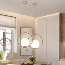 Modern Minimalist Pendant LED Light Lamp Nordic Ceiling Clothing Decoration Glass Ball for Living Room Bedroom Dining