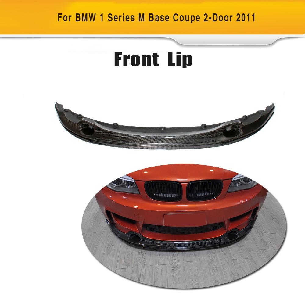 цены 1 Series Carbon Fiber Car Front Lip Spoiler Fits for BMW E82 M Base Coupe 2 Door 2011