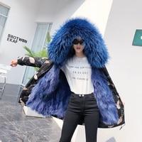 Winter fashion women's coat fur long coat with hat braids coat liner warm new Ni over overcome