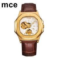 MCE смотреть Для женщин алмаз золото Мужская Механическая Автоматическая Часы женские классические Prestigio Orologio любителей дамы Для мужчин Нар...