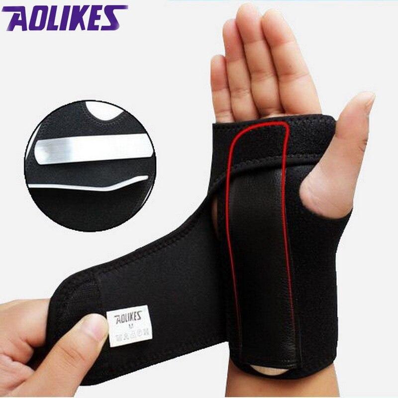 AOLIKES 1 Uds. Levantamiento de pesas gimnasio entrenamiento deportivo pulsera brazalete correas de soporte envuelve la férula de túnel carpiano de la mano