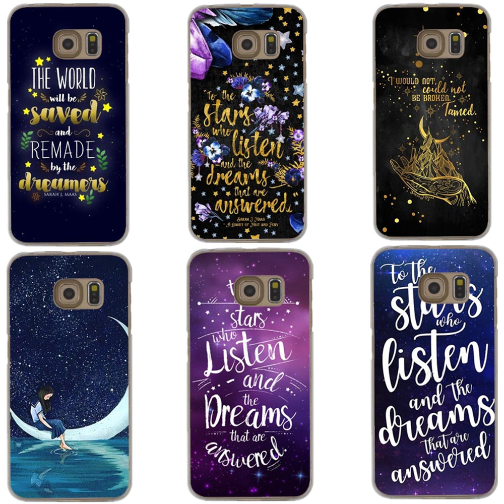 A Court of Mist and Fury by Sarah J Maas Cases For Samsung Galaxy A3 A5 A7 2017 J1 J5 J7 2016 S5 S6 S7 Edge S8 S9 Plus Note 8
