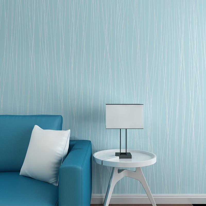 Great Wall Modern Beige Striped Wallpaper For Bedroom Living Room