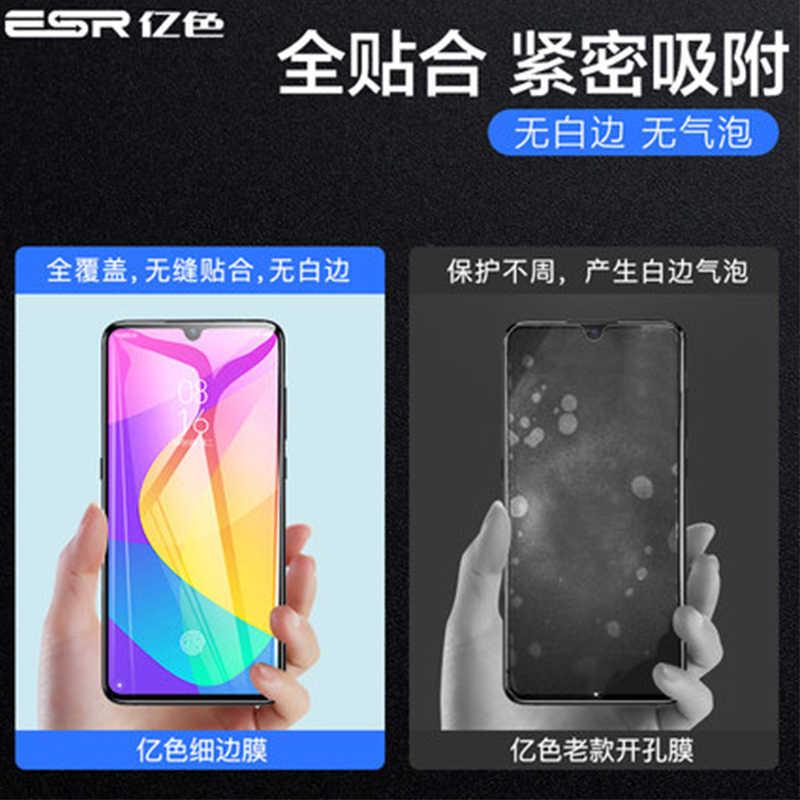 Protecteur d'écran Transparent en verre trempé 9H pour Xiaomi CC9 protecteur d'écran Film de protection avant protecteur avec bord noir