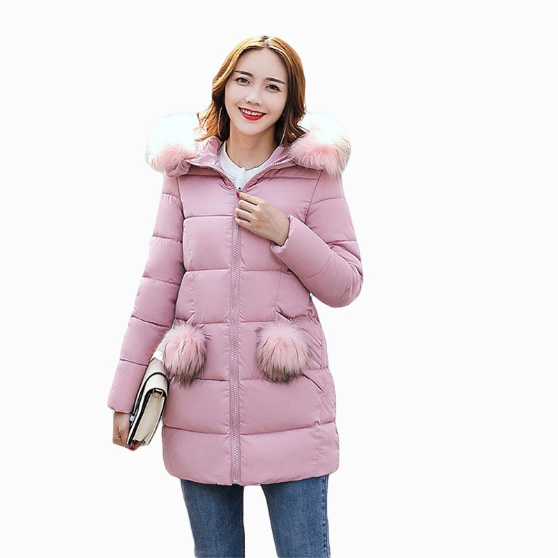 Women Winter Jacket 2017 Thick Warm Long Wadded Jacket Female Large Fur Collar hooded Down Cotton-padded Jacket Plus Size L008 2017 new fashion winter jacket women long slim large fur collar warm hooded down cotton parkas thick female wadded coat cm1678