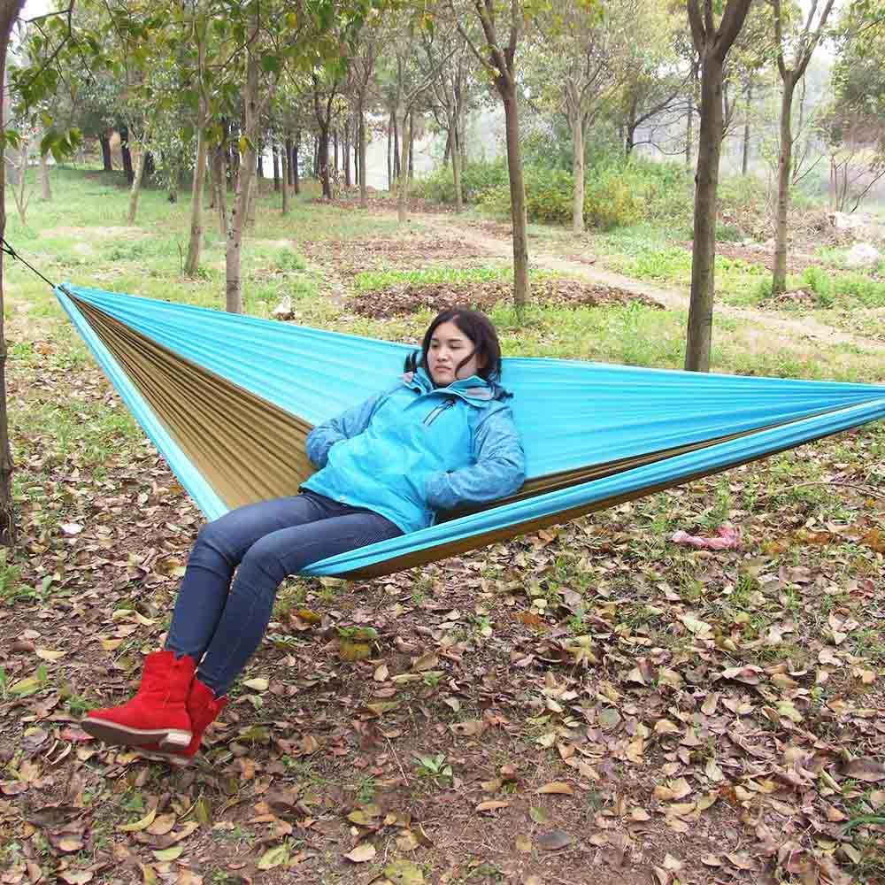 320 см * 200 см два человека гамак качели спальная кровать Открытый Кемпинг путешествия гамак для выживания Портативный