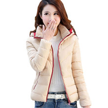 Winter Women Parkas Short Plus size Basic Jacket 2017 New Thick Hooded Down Cotton Coat Female Warm Fashion Slim Outerwear x54