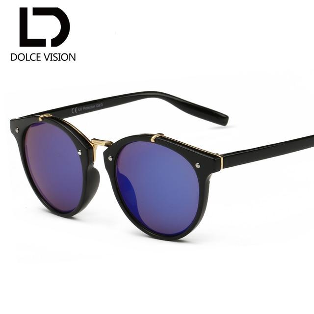 429f96442e DOLCE VISION 2018 New Retro Mirror Sunglasses Female Brand Designer Vintage Sun  Glasses Oval Fashion Shades