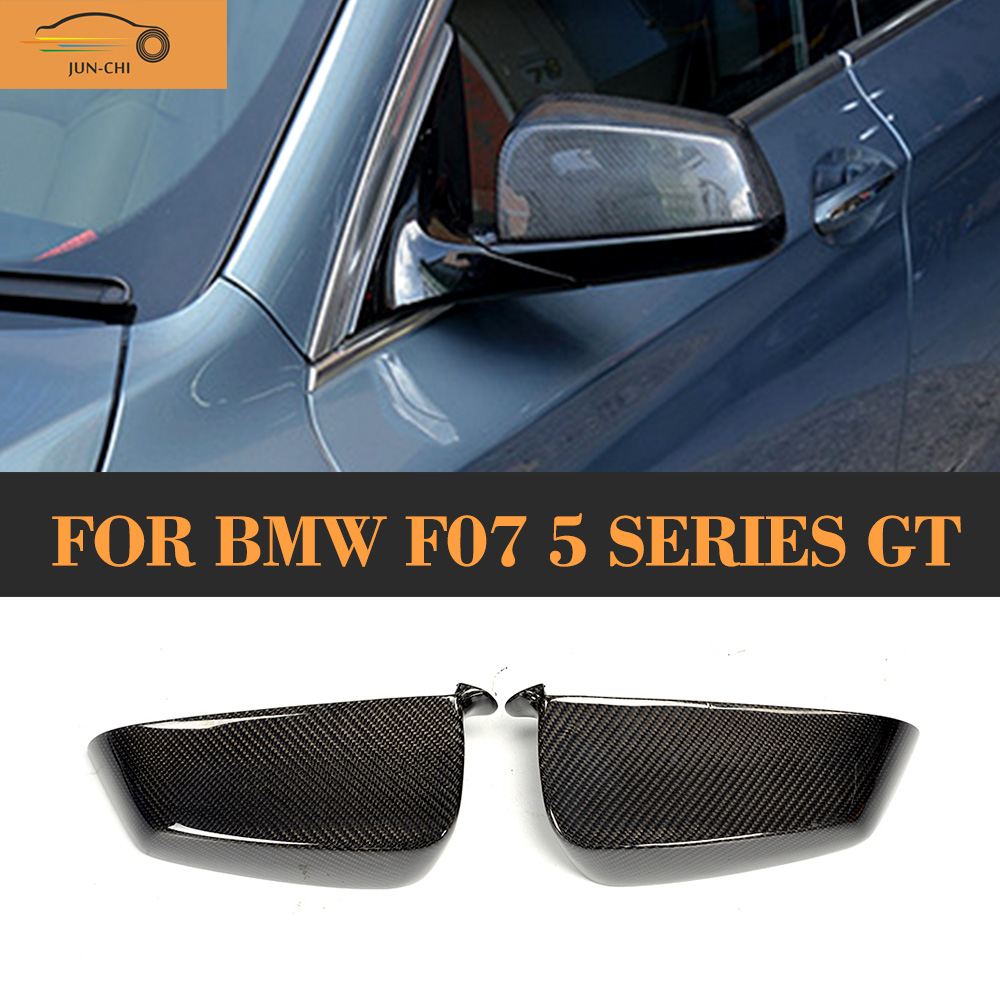 Carbon Fiber Replaced Side Mirror Covers caps for BMW 5 Series GT Gran Turismo Hatchback 4 Door 535i 550i GT xDrive 10-17 f10 side wing rearview mirror cover caps for bmw sedan 11 13 carbon fiber