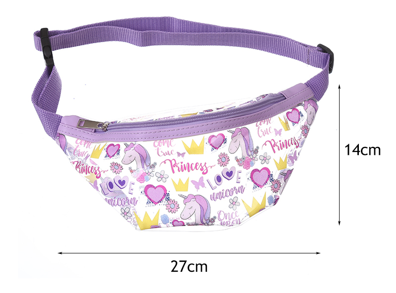 Funny Rainbow Unicorn Poop Sport Waist Bag Fanny Pack Adjustable For Travel