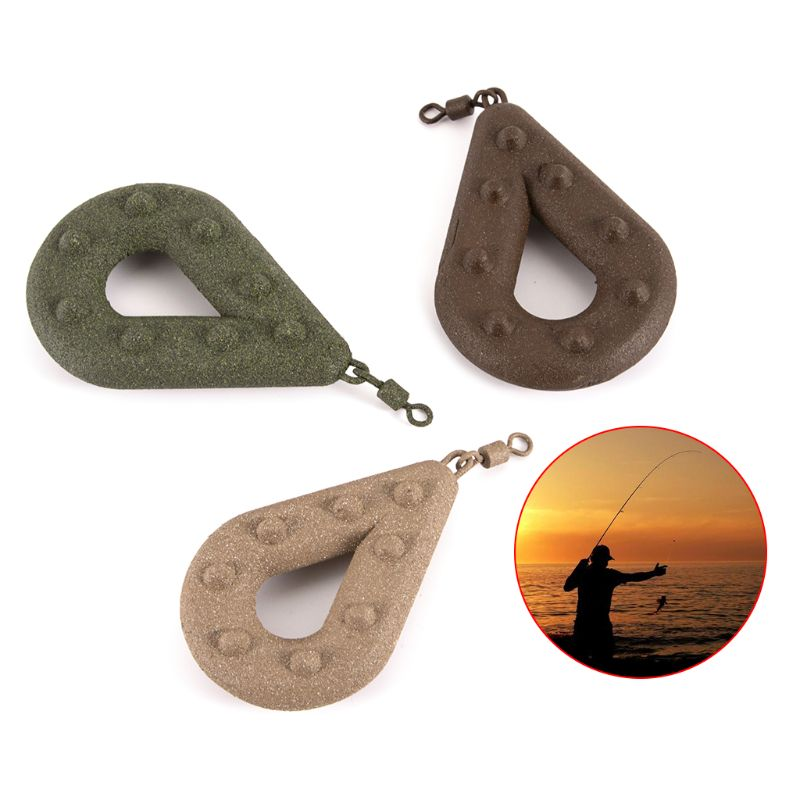 Lead Weight Fishing Sinker Hollow Pear Shaped Sea Fishing Leads Swivel Weights Tackle Accessories 71g/85g/99g/127g/142g