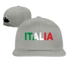 Unisex Italia Italy Italian Flag Cotton Snapback Hip Hop Flat Tongue Hats  Adjustable Baseball Caps For c762cd6bb