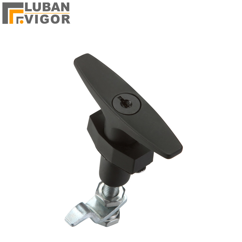 Factory outlets ,black MS309 T shape Handle lock,equipment Telescopic door locks,Telescopic switch,Industrial cabinet lock