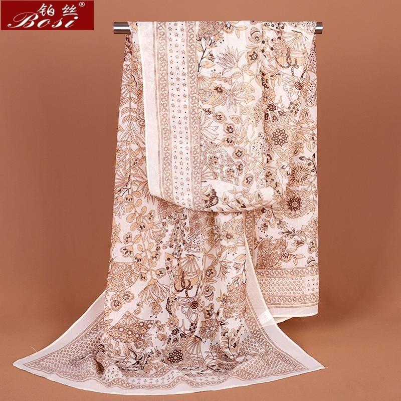Scarf Chiffon Winter Shawl Schal Scarves Poncho Women Scarfs Ethnic Foulard Hijab Scarfs Luxury Ladies Retro Schal160*60 Femme