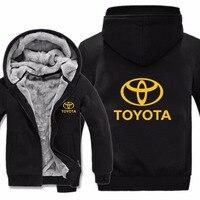 Mans Unisex Thicken Wool Liner Fleece Men Coat Toyota Logo Sweatshirts Toyota Hoodies Hoody Jacket Winter Pullover