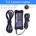 Laptop Charger Laptop Power Cable Adapter Replacement AC Adapter Input 100-240V Output 19V 4.74A 90W for Lenovo Laptop Notebook
