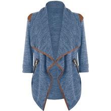 CELMIA Women Fashion Lapel Jacket Coat Autumn Winter Long Sleeve Zipper Cardigan Plus Size Female Casual Outwear Chaquetas