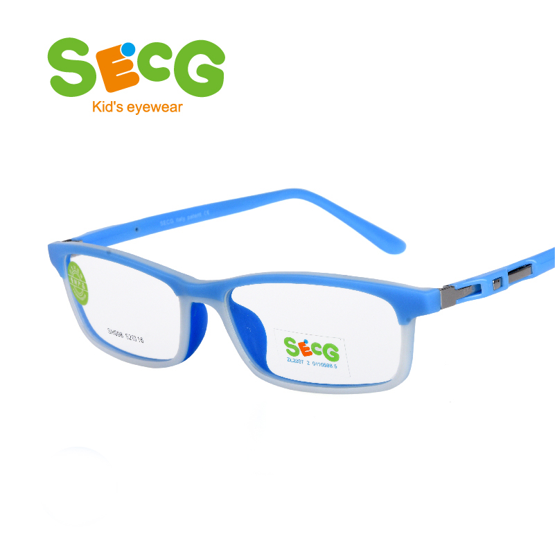 SECG Cute Soft Flexible Optical Children Glasses Frame Silicone Kids Glasses Eyewear Myopia Hyperopia Oculos Spectacles