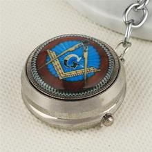 2019 Retro Freemason Pocket Watch G Pattern Quartz FOB Watches Chain Best Gifts Men Women Key Hanging Clock zakhorloge